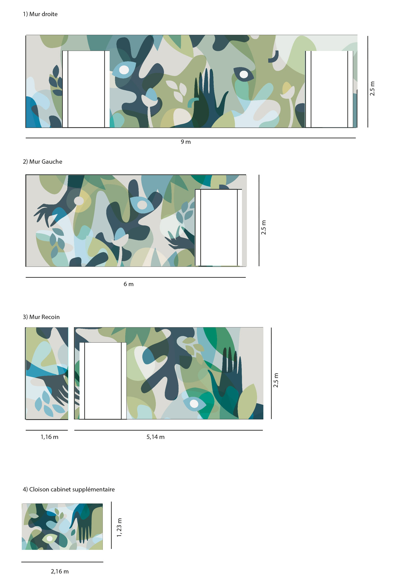 Design mural fresque Flouk Floriane Dupont studio design créations graphique lille roubaix