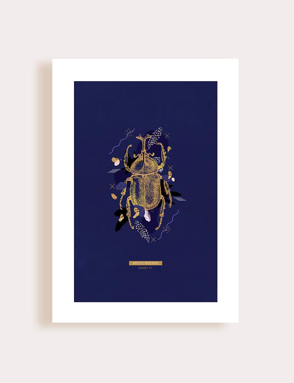 Scarabée doré Flouk Floriane Dupont studio design créations graphique lille roubaix