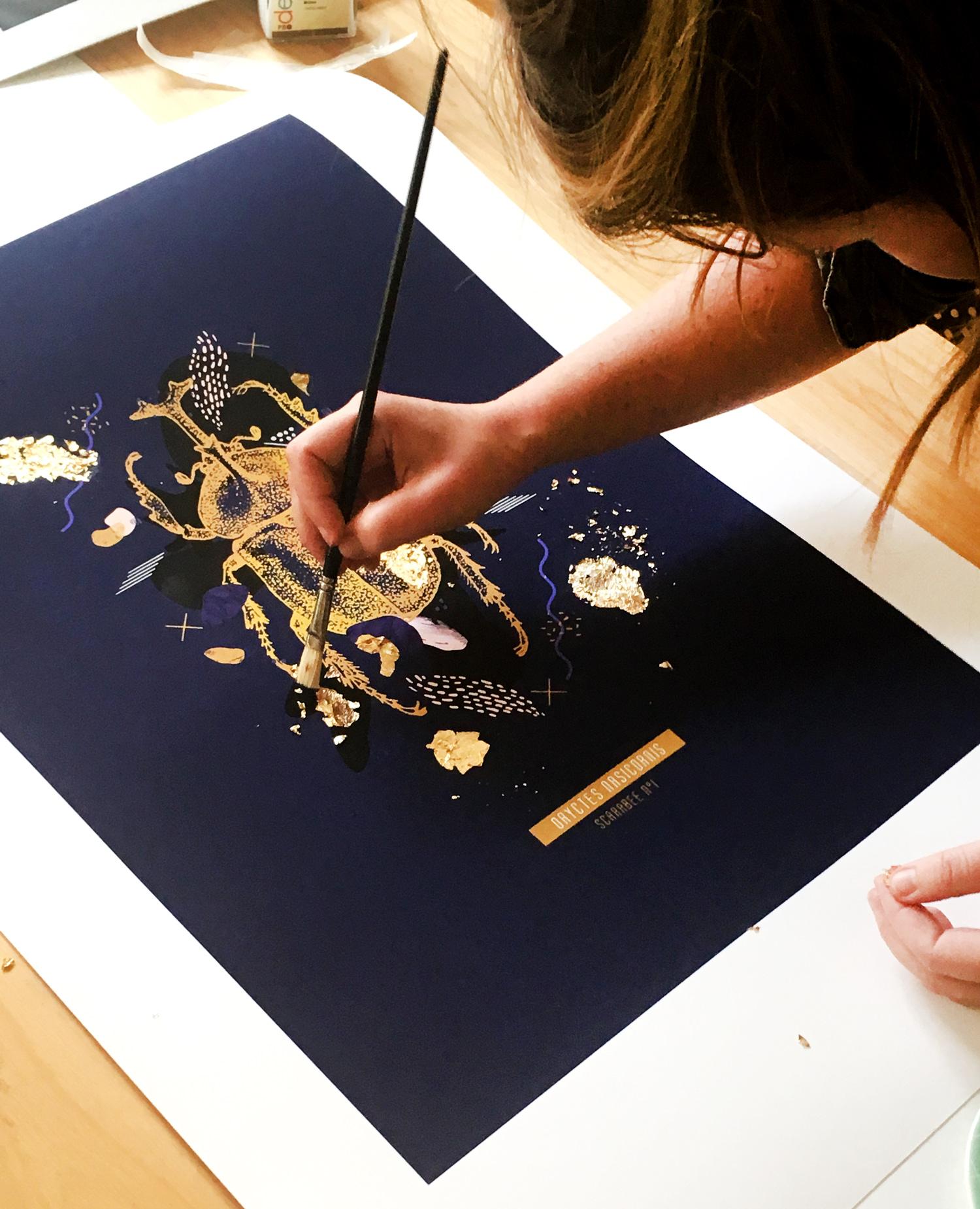 Scarabé doré Flouk Floriane Dupont studio design créations graphique lille roubaix