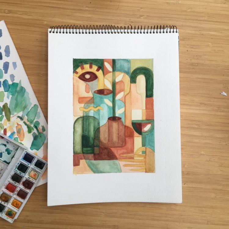 Aquarelle - Flouk - Floriane Dupont - studio design & créations graphiques - Lille - Roubaix
