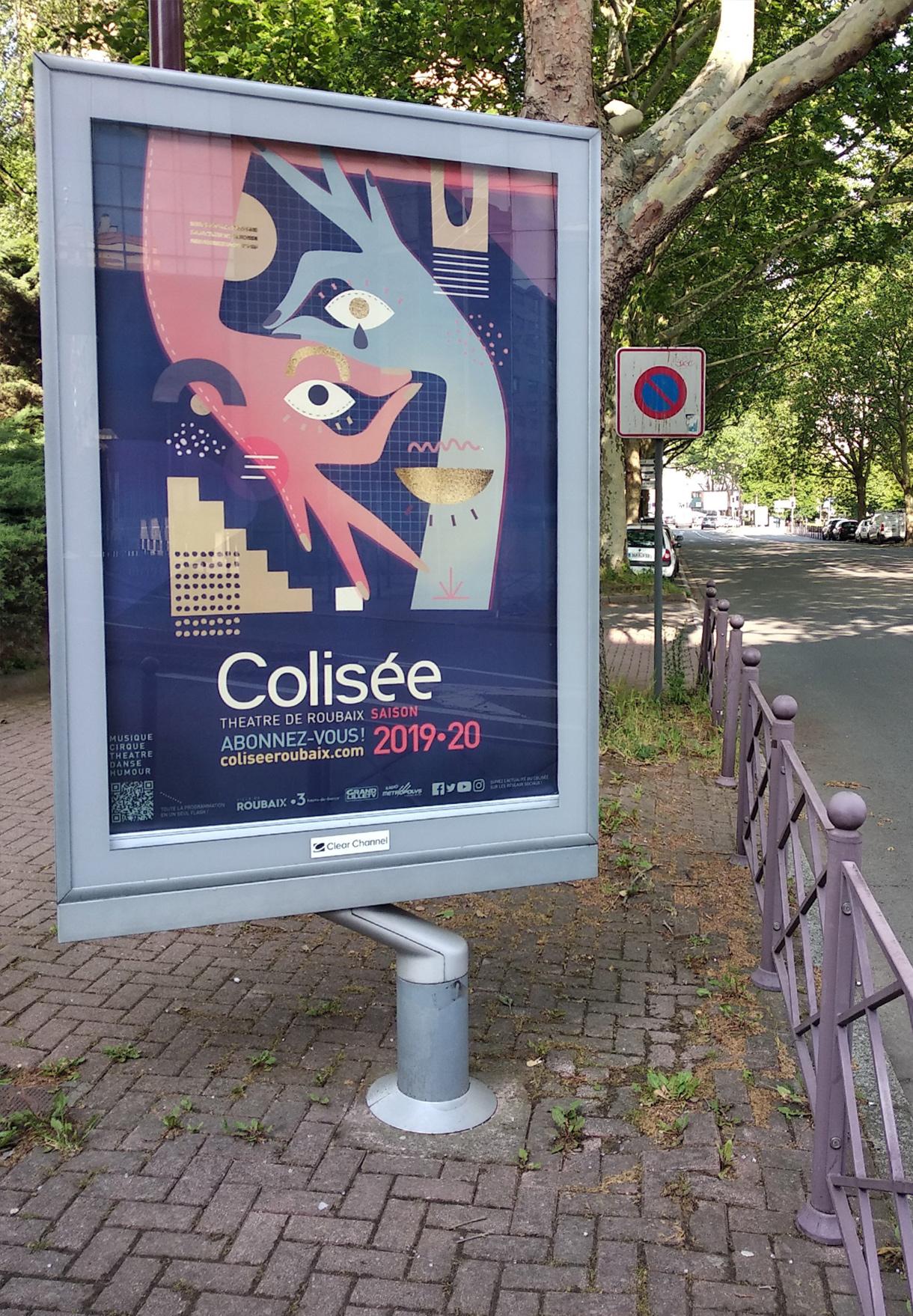 Colisée Roubaix - Flouk - Floriane Dupont - studio design & créations graphiques - Lille - Roubaix