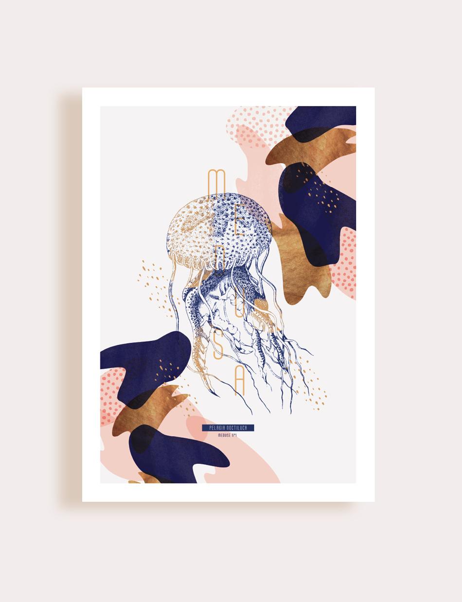 Meduse - Flouk - Floriane Dupont - studio design & créations graphiques - Lille - Roubaix