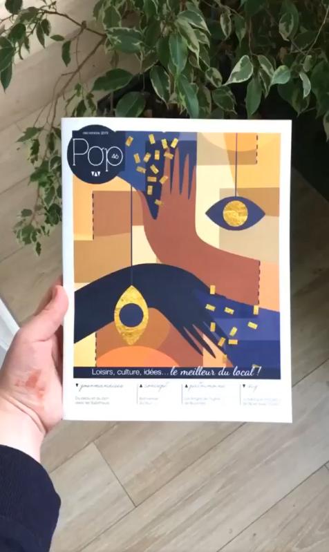 Pop Magazine - Flouk - Floriane Dupont - studio design & créations graphique - Lille - Roubaix