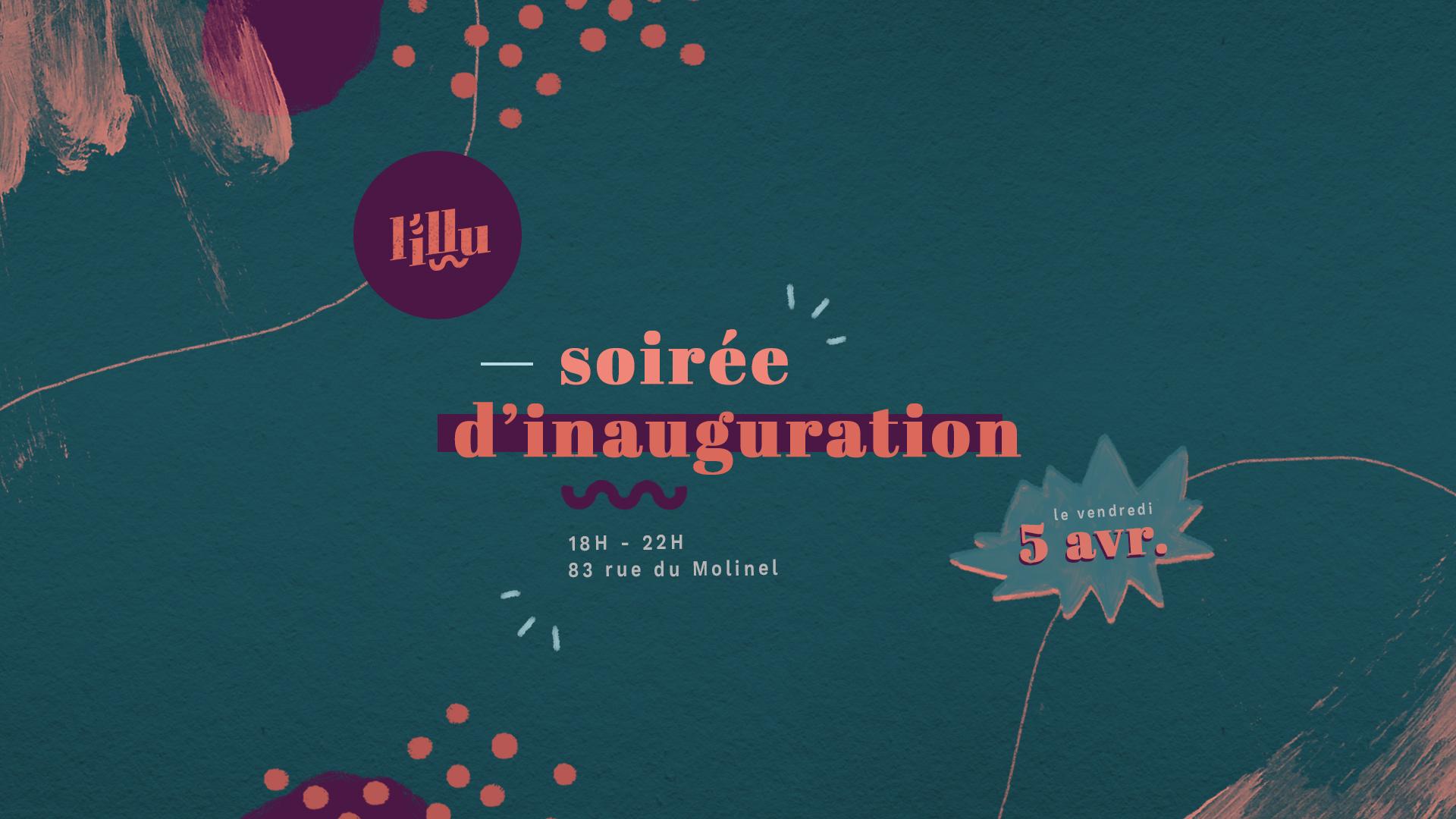 Branding galerie L'Illu - Flouk - Floriane Dupont - studio design & créations graphiques - Lille - Roubaix